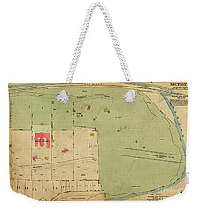 Weekender Tote Bag featuring the photograph 1923 Inwood Hill Map  by Cole Thompson
