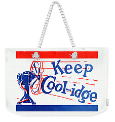 1924  Keep Coolidge Poster Weekender Tote Bag by Historic Image