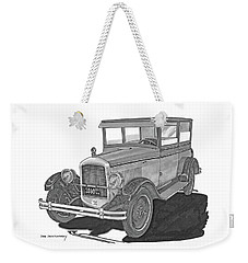 1925 Jewett 2 Door Touring Sedan Weekender Tote Bag