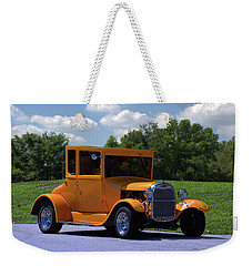 Weekender Tote Bag featuring the photograph 1926 Ford Hot Top T Hot Rod by Tim McCullough