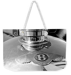 1927 Bentley Hood Ornament 2 Weekender Tote Bag by Jill Reger
