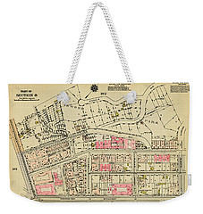Weekender Tote Bag featuring the photograph 1927 Inwood Map  by Cole Thompson