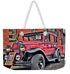 1929 Antique Sedan Weekender Tote Bag