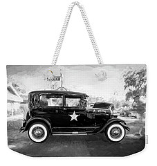 1929 Ford Model A Tudor Police Sedan Bw Weekender Tote Bag