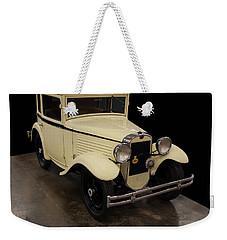 Weekender Tote Bag featuring the digital art 1930 American Austin 5 Window Coupe by Chris Flees