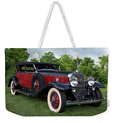 Weekender Tote Bag featuring the photograph 1930 Cadillac V16 Allweather Phaeton by Tim McCullough