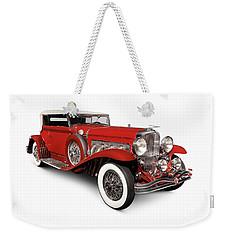 1930 Duesenberg Model Sj Rollston Convertible Victoria Weekender Tote Bag