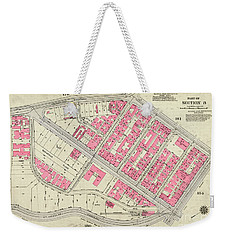 Weekender Tote Bag featuring the photograph 1930 Inwood Map  by Cole Thompson