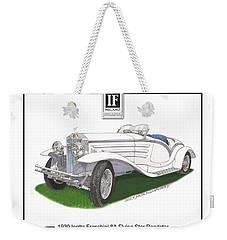 1930 Isotta Fraschini 8a Flying Star Roadster Weekender Tote Bag by Jack Pumphrey