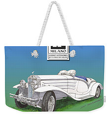 1930 Isotta Fraschini Tippo 8 A Flying Star Roadster Weekender Tote Bag by Jack Pumphrey