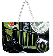 1930s Aston Martin Front Grille Detail Weekender Tote Bag by John Colley