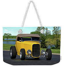 Weekender Tote Bag featuring the photograph 1932 Ford Roadster by Tim McCullough