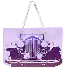 1932 Packard Pop Art Violet Gradient Weekender Tote Bag