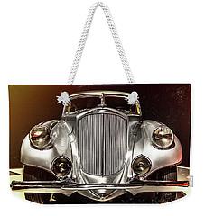 1933 Pierce-arrow Silver Arrow Front View Weekender Tote Bag