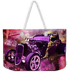 1934 Ford Coupe Hot Rod Acrylic Illustration Weekender Tote Bag