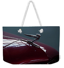 Weekender Tote Bag featuring the photograph 1936 Auburn Hood Ornament by Chris Flees