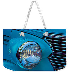 1936 Chevy Coupe Headlight And Grill Weekender Tote Bag