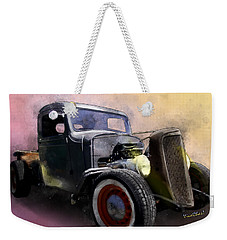1936 Chevy Rat Rod Pickup Watercolour Weekender Tote Bag