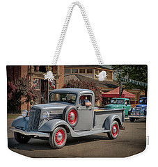 Weekender Tote Bag featuring the photograph 1936 Gmc T-14 Pickup  by Susan Rissi Tregoning
