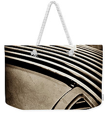Weekender Tote Bag featuring the photograph 1936 Pontiac Hood Ornament -1140s by Jill Reger