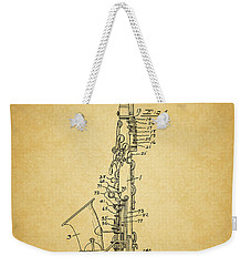1936 Saxophone Patent Weekender Tote Bag by Dan Sproul
