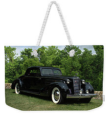 Weekender Tote Bag featuring the photograph 1937 Cadillac V16 Fleetwood Stationary Coupe by Tim McCullough