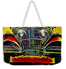 1937 Mercedes Benz First Wheel Down Weekender Tote Bag