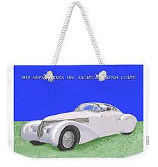 1938 Hispano Suiza H6c Saoutchik Xenia Coupe Weekender Tote Bag by Jack Pumphrey
