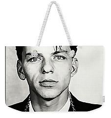 1938 Young Frank Sinatra Mugshot Weekender Tote Bag