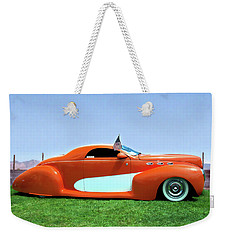 1939 Lincoln Zephyr Coupe Weekender Tote Bag