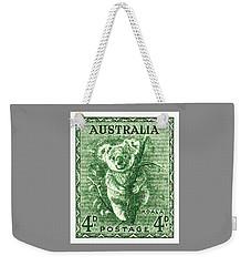 1940 Australia Koala Postage Stamp Weekender Tote Bag