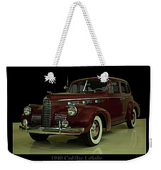 Weekender Tote Bag featuring the photograph 1940 Cadillac Lasalle by Chris Flees