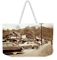 Weekender Tote Bag featuring the photograph 1949 Cherokee North Carolina by Marilyn Hunt