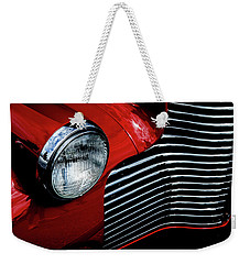 Weekender Tote Bag featuring the photograph 1940 Chevy 2-door by Eric Christopher Jackson
