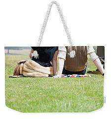 1940s Couple Sitting In The Sunshine Weekender Tote Bag