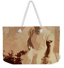 Weekender Tote Bag featuring the photograph 1940s Little Girl by Linda Phelps