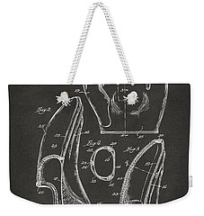 1941 Baseball Glove Patent - Gray Weekender Tote Bag by Nikki Marie Smith
