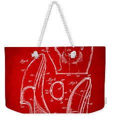 1941 Baseball Glove Patent - Red Weekender Tote Bag