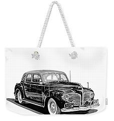 Weekender Tote Bag featuring the painting 1941 Dodge Town Sedan by Jack Pumphrey