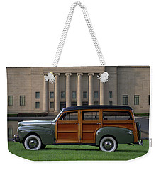 1941 Ford Super Deluxe Country Squire Woody Station Wagon Weekender Tote Bag