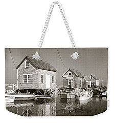 1941 Lobster Shacks, Martha's Vineyard Weekender Tote Bag by Historic Image