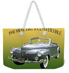 1941 Mercury Eight Convertible Weekender Tote Bag by Jack Pumphrey