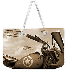 Weekender Tote Bag featuring the photograph 1942 Indian 841 - B-17 Flying Fortress - H by Mike McGlothlen