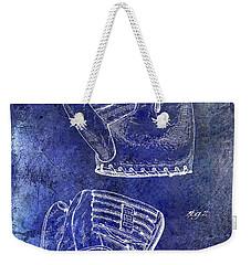 1945 Baseball Glove Patent Blue Weekender Tote Bag