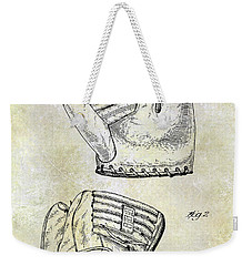 1945 Baseball Glove Patent Weekender Tote Bag