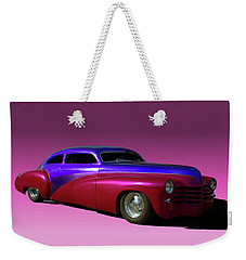 Weekender Tote Bag featuring the photograph 1947 Cadillac Radical Custom by Tim McCullough