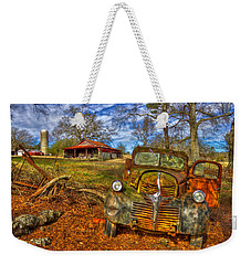 1947 Dodge Dump Truck Country Scene Art Weekender Tote Bag by Reid Callaway