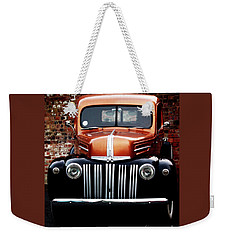 Weekender Tote Bag featuring the photograph 1947 Ford F150 Regular Cab Pick Up by Baggieoldboy
