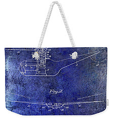 1947 Helicopter Patent Blue Weekender Tote Bag