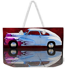 1947 Oldsmobile Tile Reflection Weekender Tote Bag